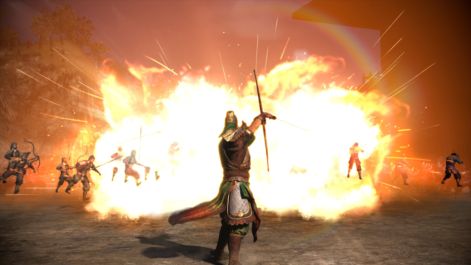 Dynasty-Warriors9-fire-attack-with-oil-bottle