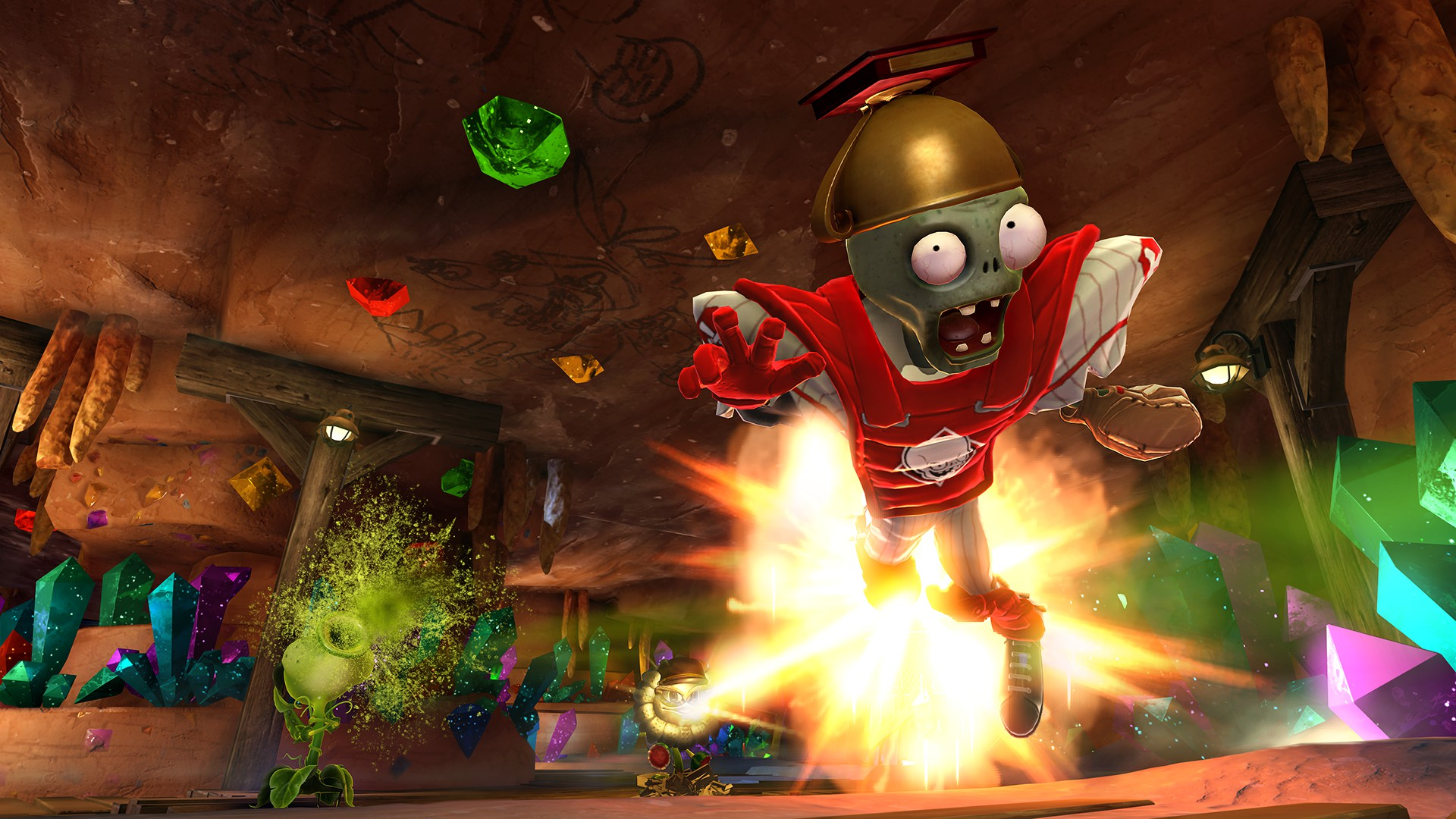 Plants vs. Zombies: Garden Warfare is a multiplayer third-person shooter and tower defense video game, it is part of Plants vs. Zombies series, developed by PopCap Games and published by Electronic Arts.
