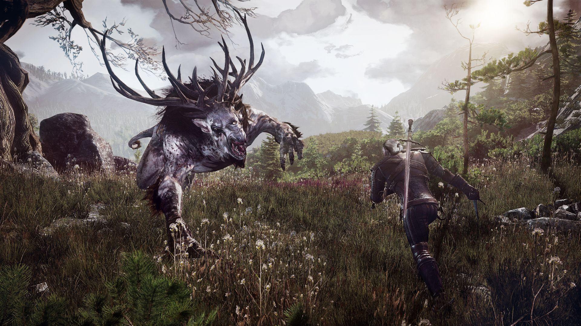 the_witcher_3_wild_hunt_geralt_fighting_fiend_1402422261