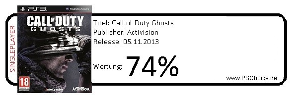 COD Ghosts PS3-Singleplayer only- Die Wertung von Playstation Choice
