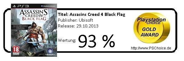 Asassins Creed 4 Black Flag - Die Wertung von Playstation Choice