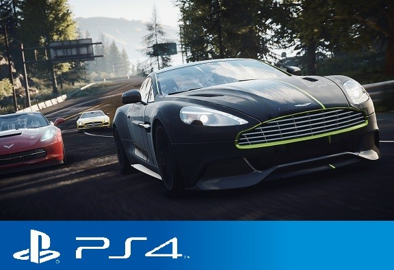 Aston Vanquish in the lead - Iconic Mini PS4 Logo
