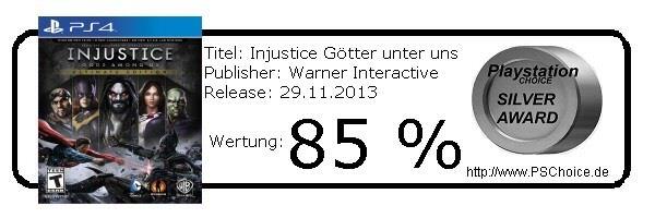 Injustice Götter unter uns - Playstation 4 - Die Wertung von Playstation Choice