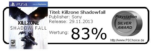 Killzone Shadowfall - Playstation 4 - Die Wertung von Playstation Choice