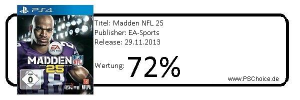 Madden NFL 25- Die Wertung von Playstation Choice