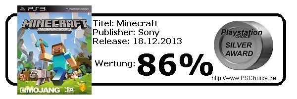 Minecraft - Die Wertung von Playstation Choice