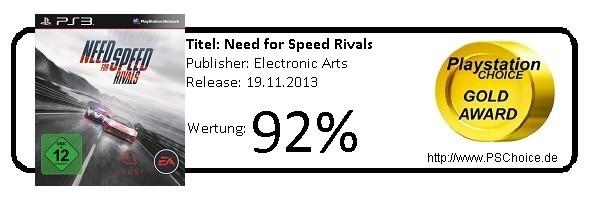 Need for Speed Rivals PS3 - Die Wertung von Playstation Choice