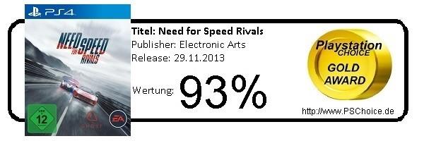 Need for Speed Rivals PS4 - Die Wertung von Playstation Choice