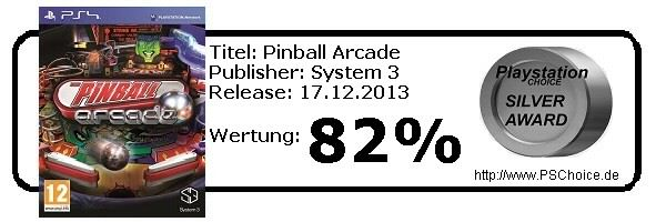 Pinball Arcade - Playstation 4 - Die Wertung von Playstation Choice
