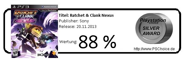 Ratchet & Clank Into The Nexus - Die Wertung von Playstation Choice