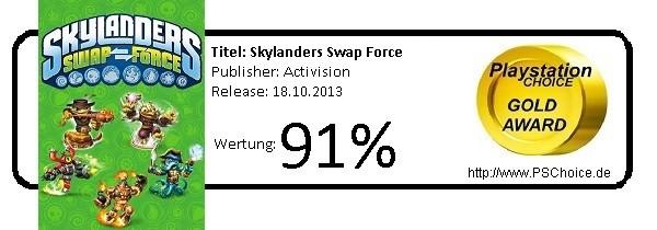 Skylanders Swap Force - Die Wertung von Playstation Choice