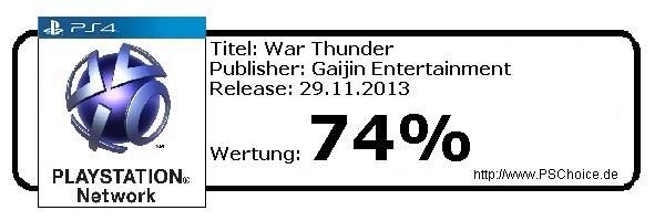 War Thunder- Die Wertung von Playstation Choice