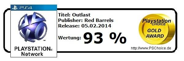 Outlast - Die Wertung von Playstation Choice