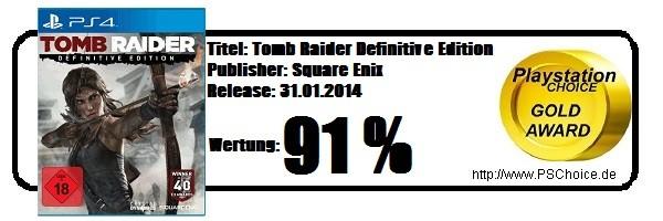 Tomb Raider Definitive Edition - Die Wertung von Playstation Choice