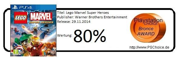 Lego Marvel - Die Wertung von Playstation Choice