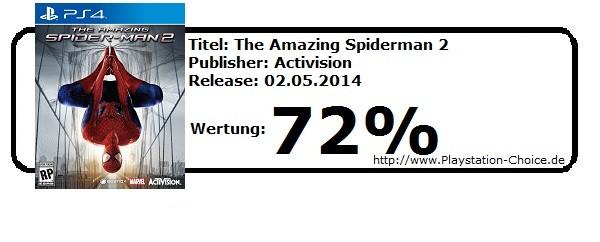 Spiderman 2 - Die Wertung von Playstation Choice