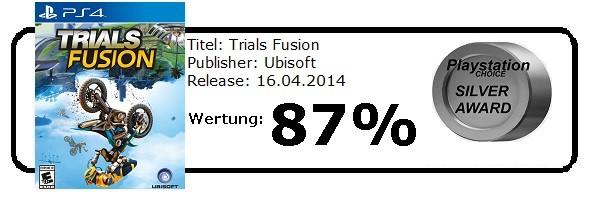 Trials Fusion - Playstation 4 - Die Wertung von Playstation Choice