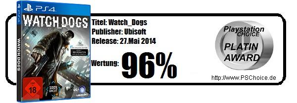 Watch_Dogs für Playstation 4 - Die Wertung von Playstation Choice
