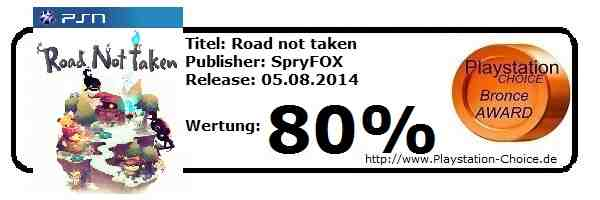 Road not taken - Playstation 4 - die Wertung von Playstation Choice