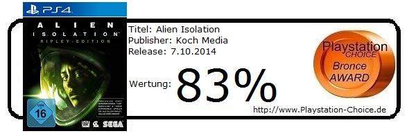 Alien Isolation-PS4-Die-Wertung-von-Playstation-Choice