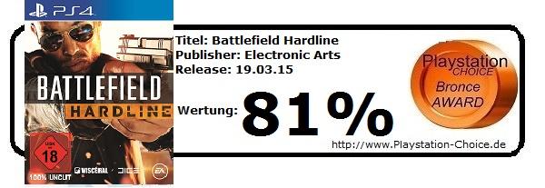 Battlefield Hardline - Die Wertung von Playstation Choice
