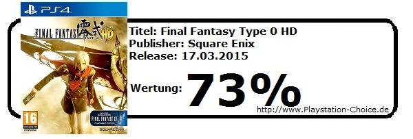 Final Fantasy Type 0 HD - Playstation 4 -Die-Wertung-von-Playstation-Choice