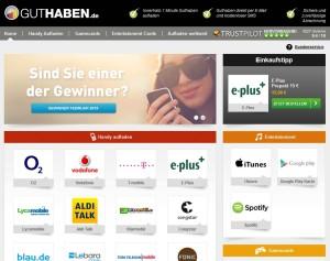 Guthaben.de Website
