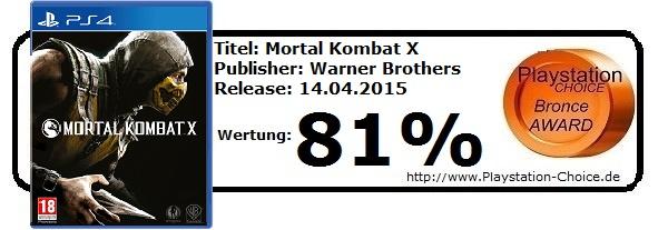 Mortal Kombat X - Die Wertung von Playstation Choice
