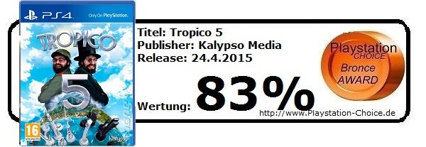 Tropico 5 - Die Wertung von Playstation Choice