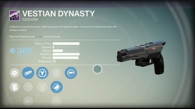 Vestian Dynasty legendary side arm
