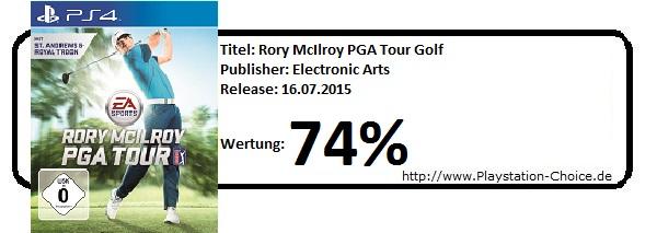 Rory McIlroy PGA Tour Golf-PS4-Die-Wertung-von-Playstation-Choice