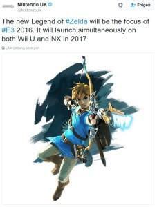 Nintendo UK Twitter Meldung bestätigt Nintendo NX für März 2017