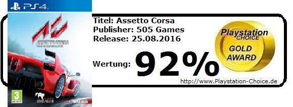 Assetto Corsa - Die Wertung von Playstation Choice